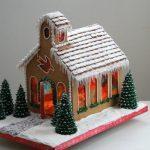 Horizontal Gingerbread Church