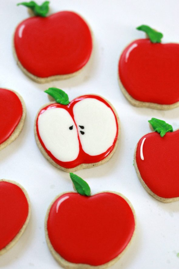 Apple Strudel Tea Cut Out Cookies {& Fruit Decorated Cookies}