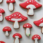 mushroom decorated cookies sweetopia