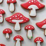 mushroom decorated cookies sweetopia