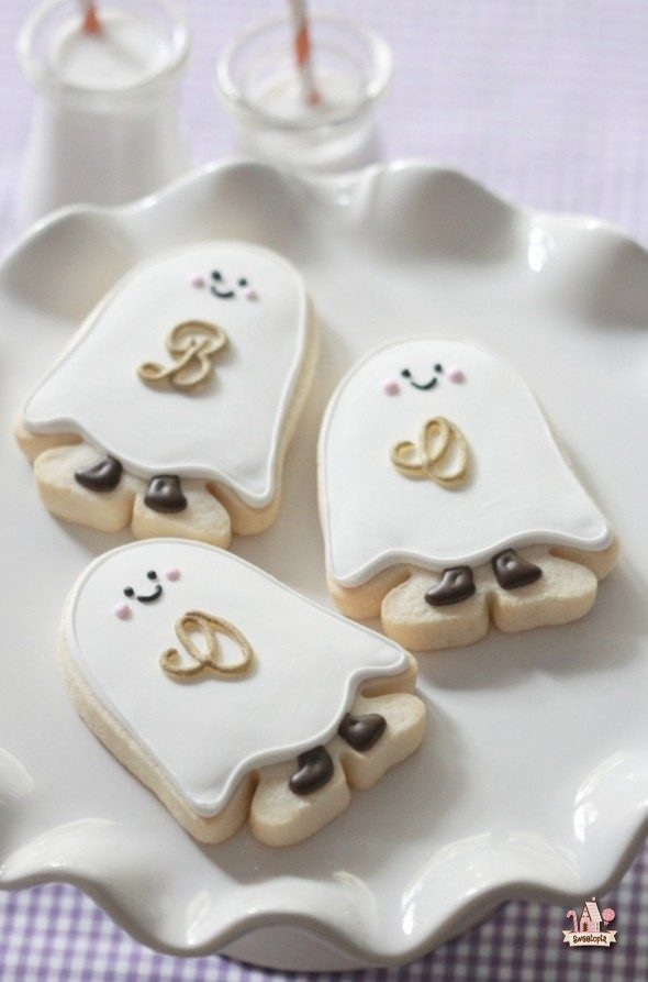 cream sugar halloween ghost sugar cookies with cream cheese frosting ...