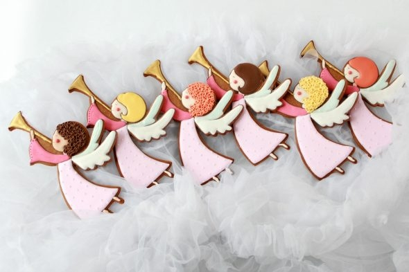 Video Tutorial - Angel Decorated Cookies