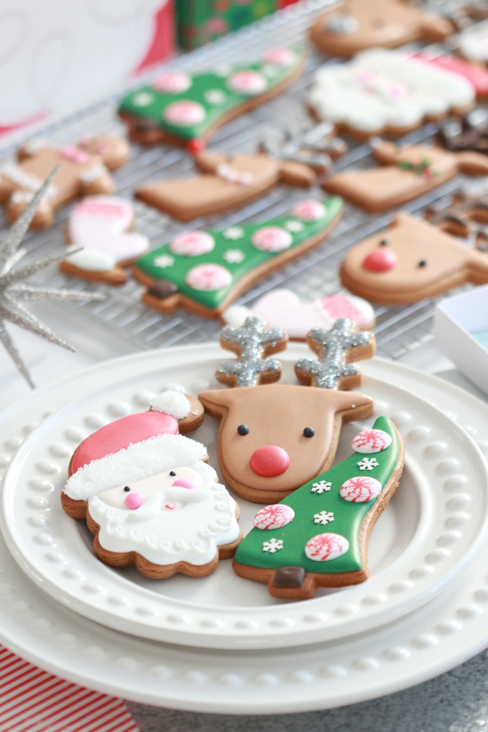 video how to decorate simple christmas cookies with