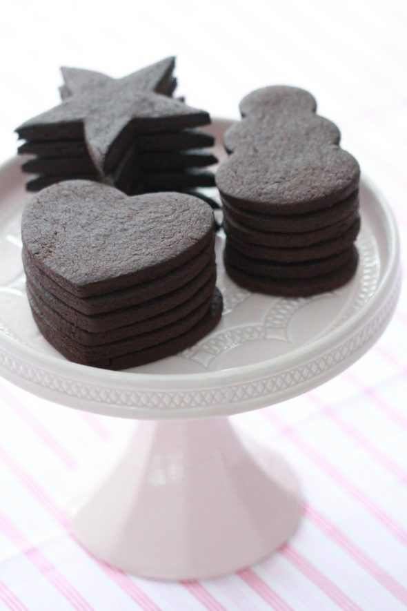 Vegan Chocolate Sugar Cookies