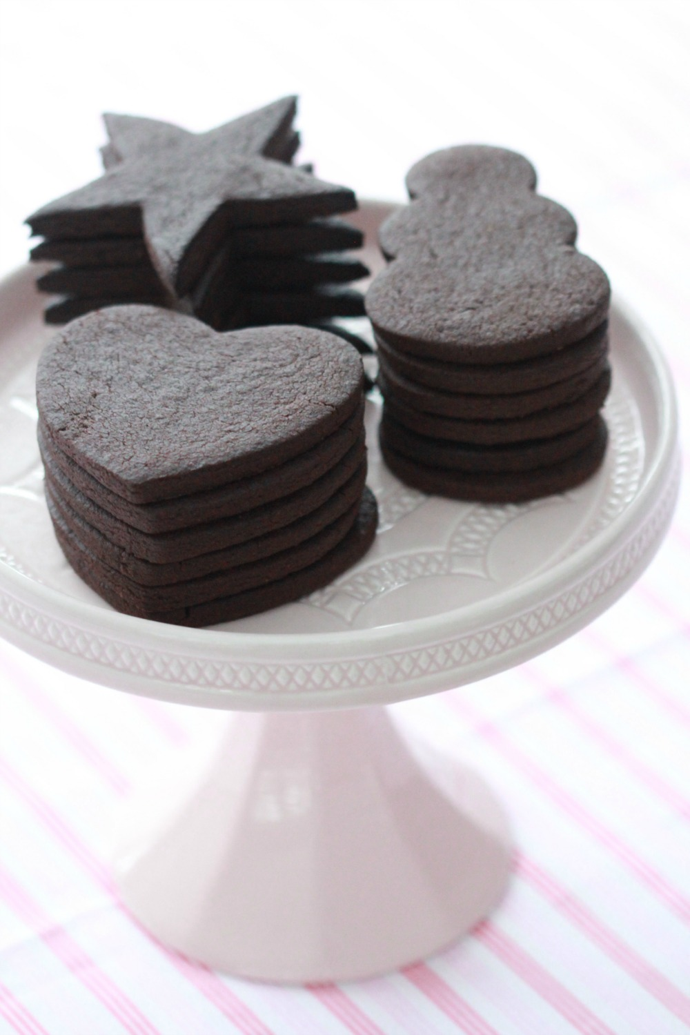 Vegan Chocolate Sugar Cookies | Sweetopia