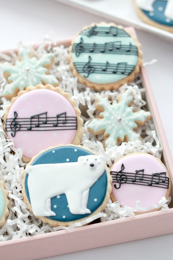 Polar Bear Decorated Cookies Sweetopia
