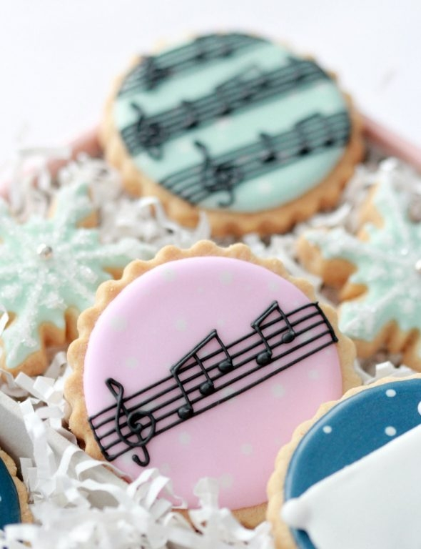 Music Note Decorated Cookies Sweetopia