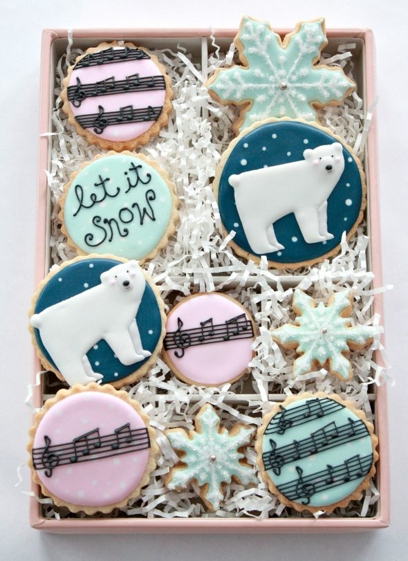 Winter Decorated Cookies Sweetopia