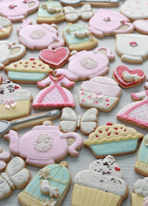 Tea Party Decorated Cookies by Sweetopia