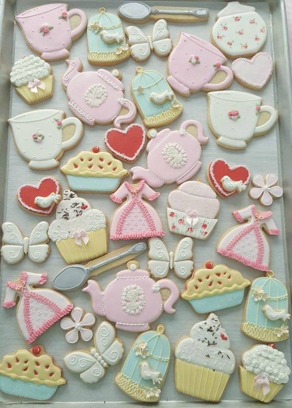 Valentines Day Tea Party Cookies