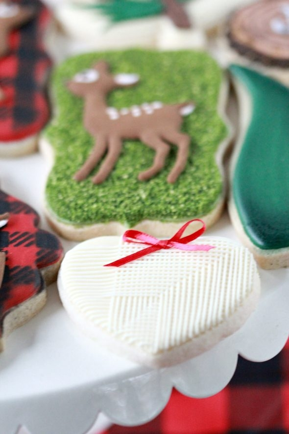 Forest Christmas Decorated Cookies