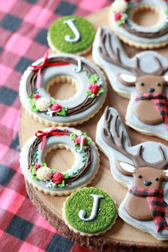 Forest Themed Decorated Cookies