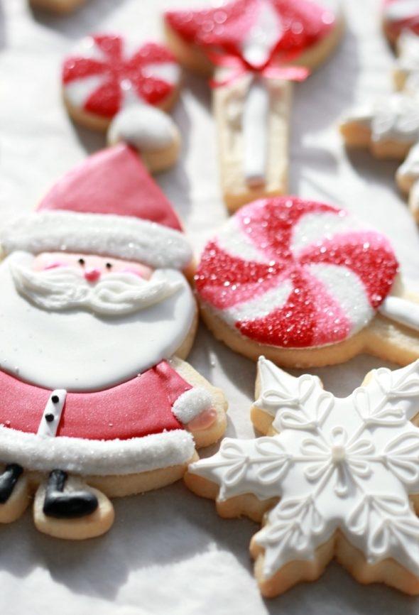 Candyland Santa Cookies