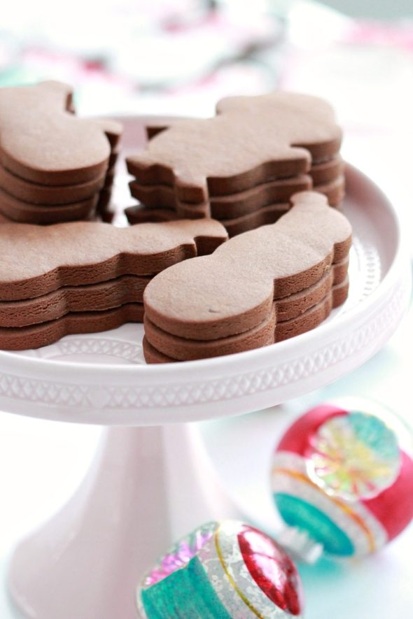 Chocolate Gingerbread Cut Out Cookie Recipe