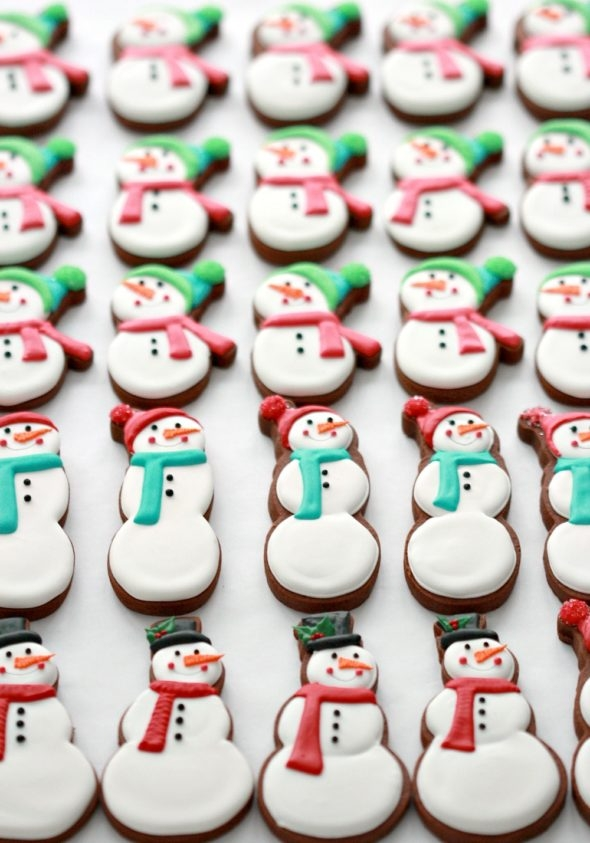 Chocolate Gingerbread Cut Out Cookie Recipe and Decorated Cookies