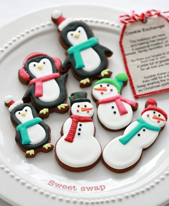Chocolate Gingerbread Cut Out Cookies