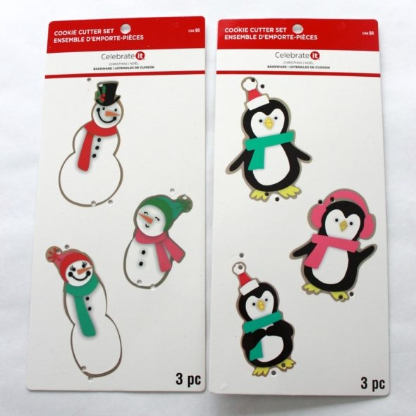 Cookie Cutter Set from Michaels Snowman and Penguin