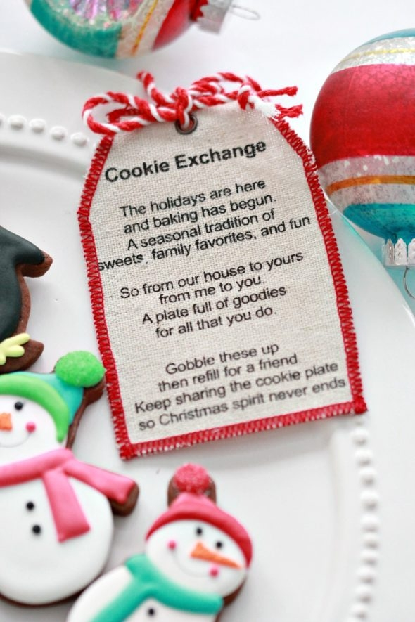 Cookie Exchange Plate