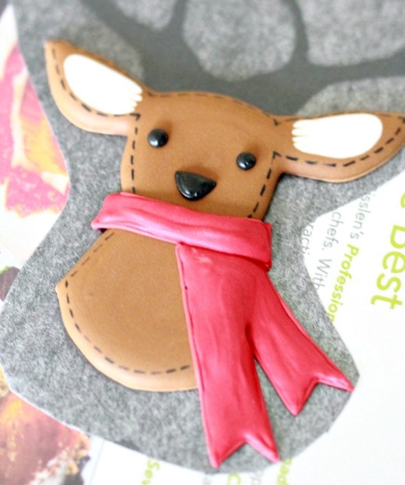 Deer Royal Icing Transfer