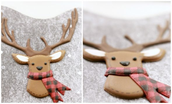How to pipe royal icing transfer deer