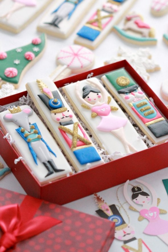 Nutcracker Decorated Cookies on Sweetopia