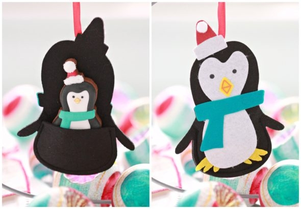 Penguin Felt Gift Card Holder Ornament from Michaels