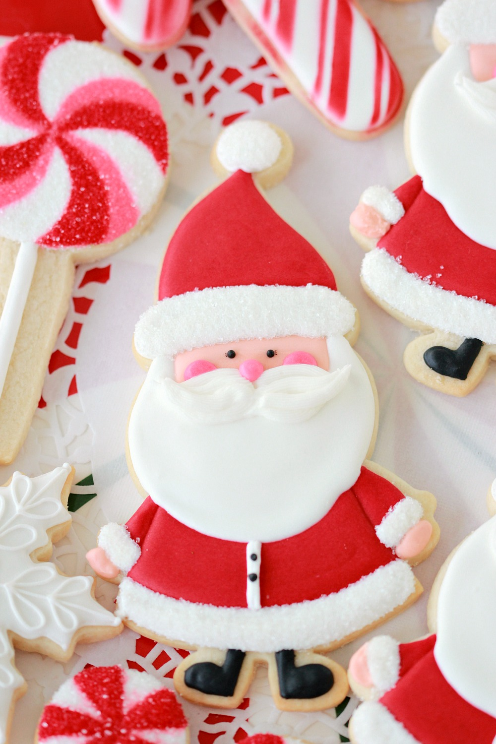 Candy Cane Cut Out Sugar Cookies Sweetopia