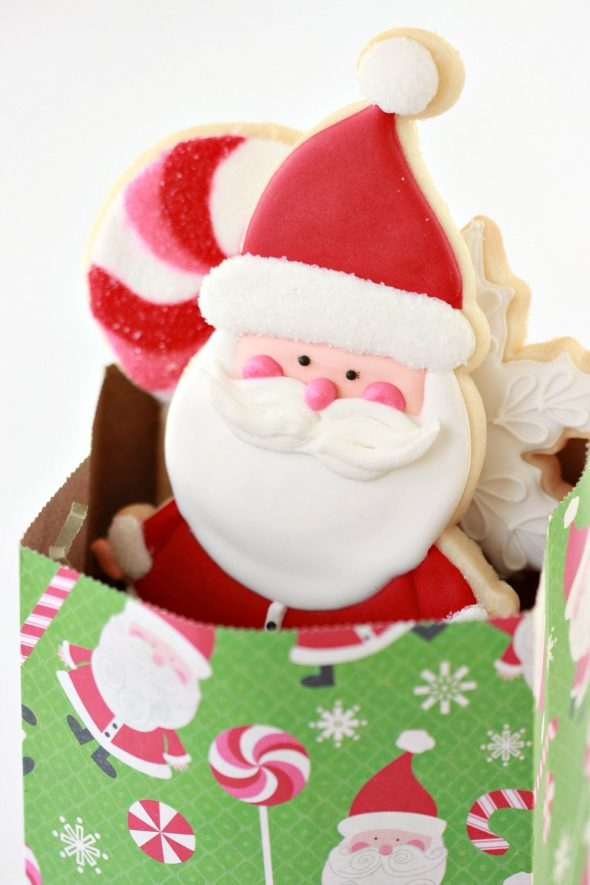 Santa Cookie matching bag