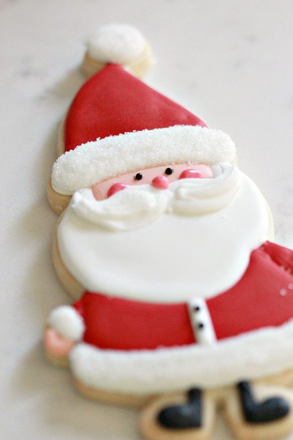 Santa Decorated Cookie