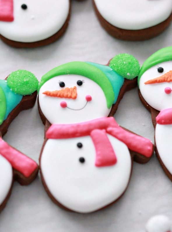 Snowman Decorated Cookie