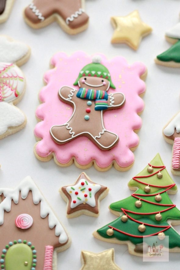 Christmas Cookies Decorated with Royal Icing Sweetopia