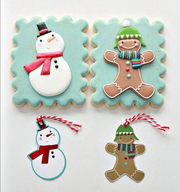 Christmas Cookies based on Gift Tags