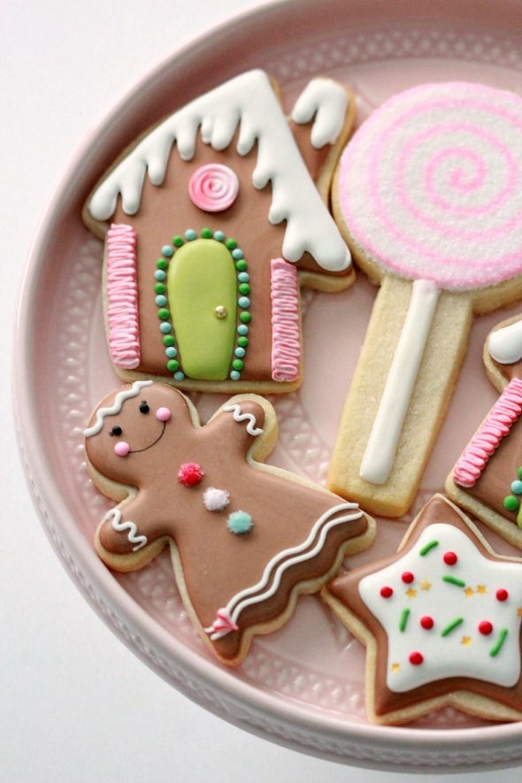 Gingerbread Decorated Cookies