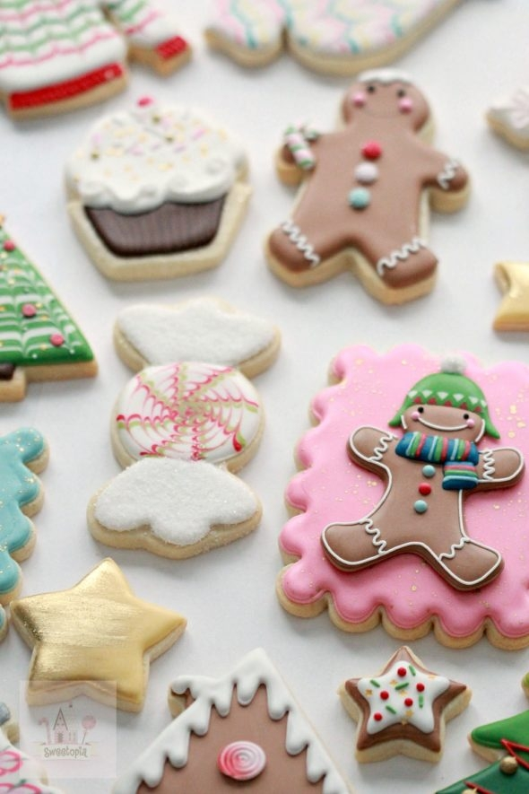 Holiday Decorated Cookies Sweetopia