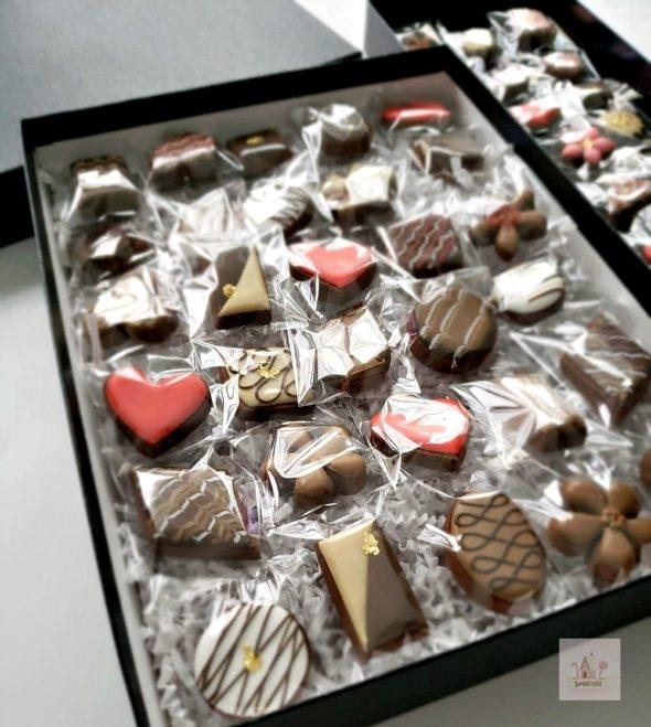 Box of Chocolate Cookies