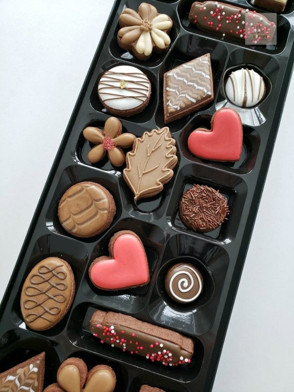 Box of Chocolates Decorated Cookies Video Tutorial