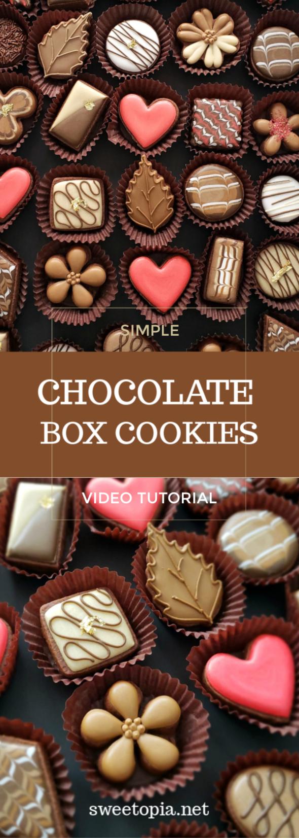 Chocolate Sugar Cookies Box of Chocolate Cookies Video Tutorial