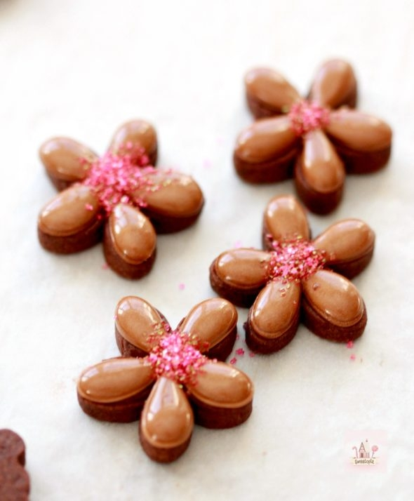 Flower Chocolate Cookies