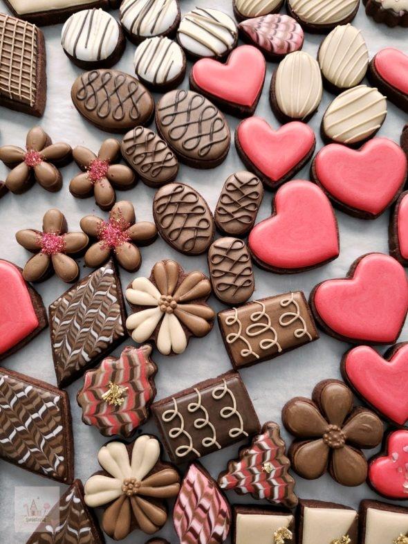 Simple Valentine Chocolate Box Cookies Video Tutorial