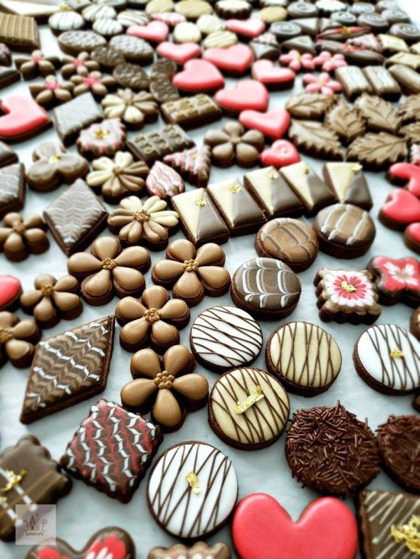 Simple Valentine Chocolate Cookies