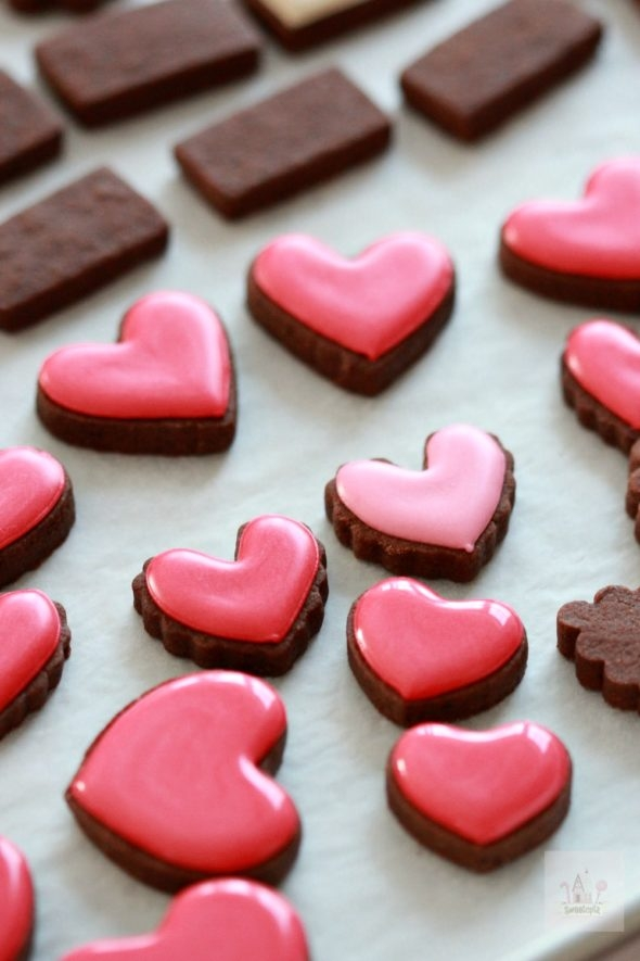 Simple Valentine Decorated Cookies Video Tutorial