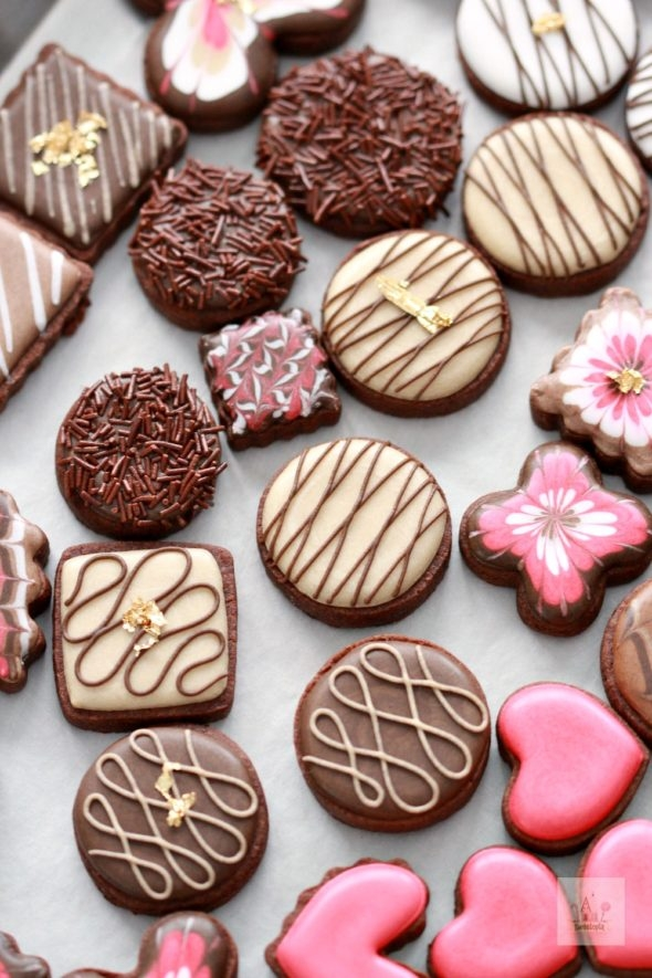 Valentine Box of Chocolates Decorated Cookies