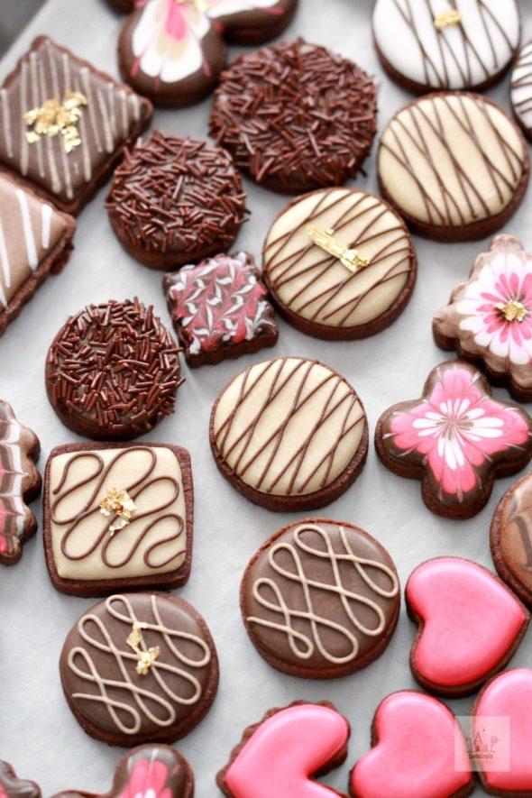 Valentine Box of Chocolates Decorated Cookies