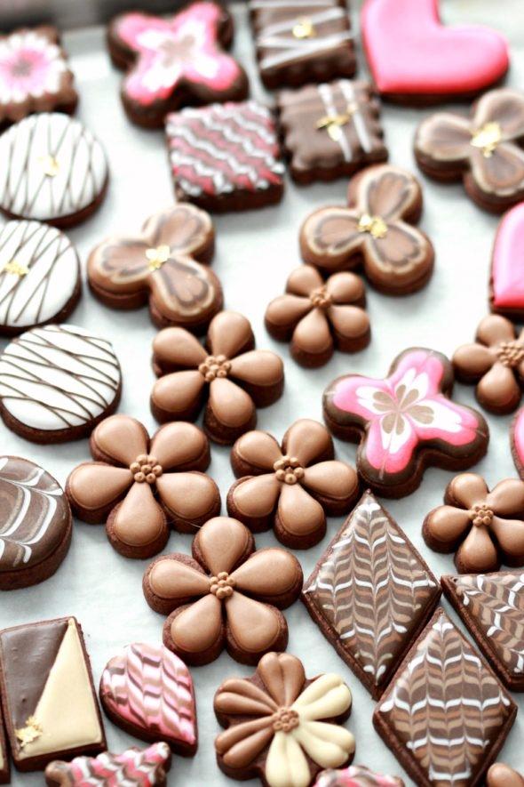 Valentine Chocolate Cookies Video Tutorial