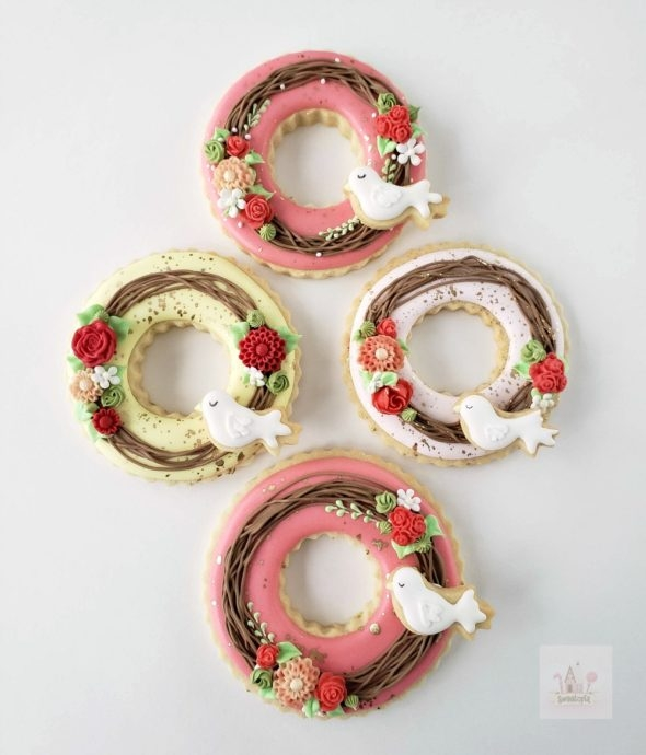 video tutorial wreath decorated cookies