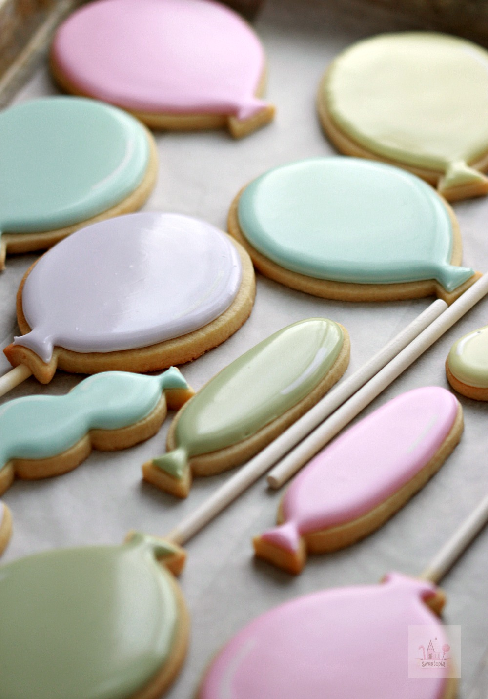 Balloon Decorated Cookies