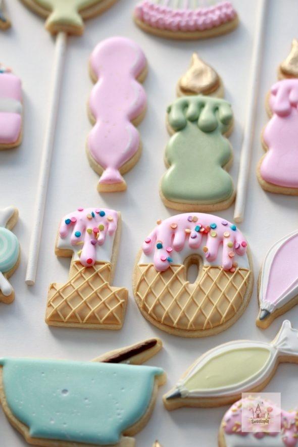Birthday Party Ice Cream Cookies