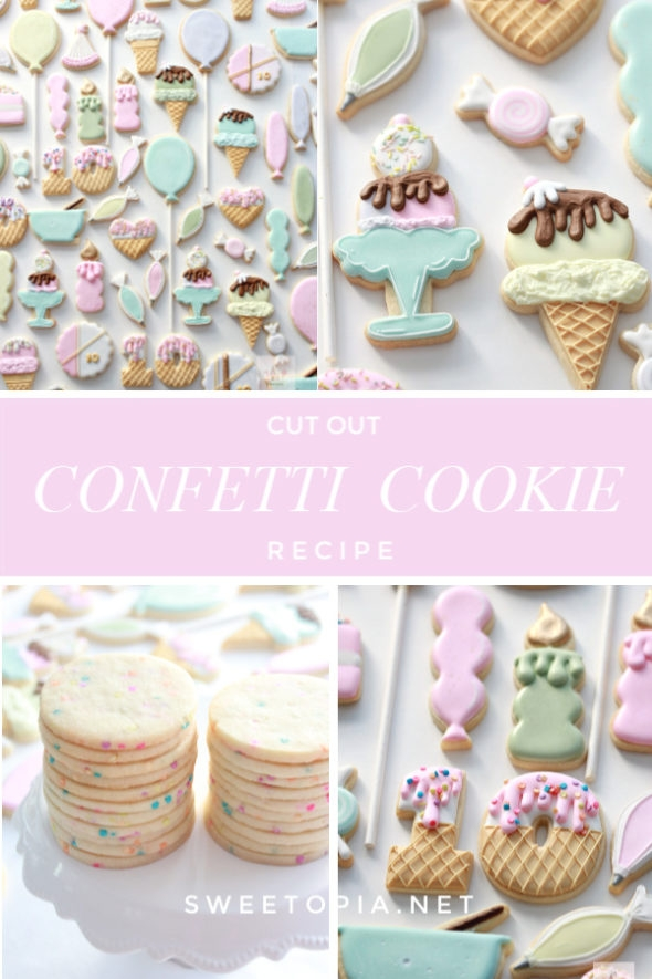 Cut Out Confetti Sugar Cookie Recipe