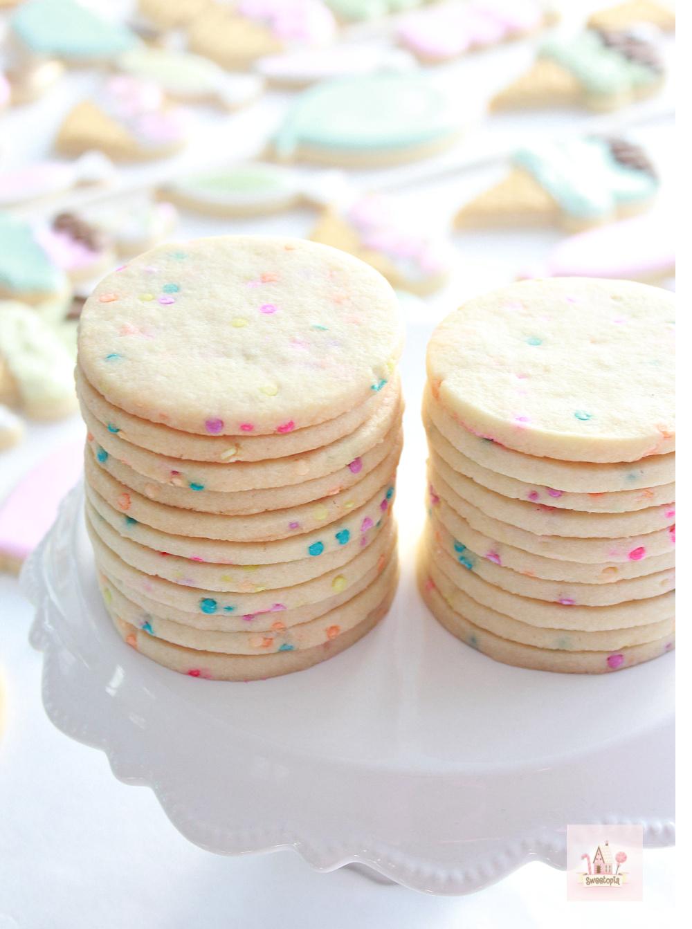 Confetti Cut Out Sugar Cookie Recipe