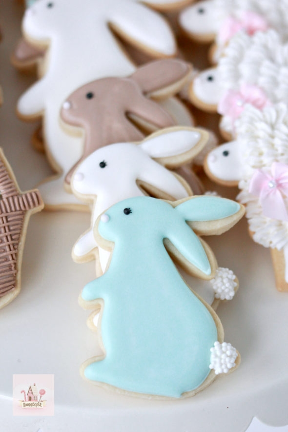 Bunny Decorated Cookies